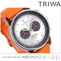 トリワ ネビル ハバナ オレンジ 42mm クロノグラフ ユニセックス 腕時計 NEAC102-ST...