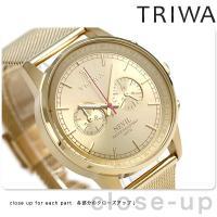 トリワ ネビル ゴールド 40mm クロノグラフ ユニセックス 腕時計 NEST104-ME0213...