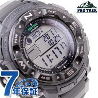 7年保証キャンペーン カシオ プロトレック 電波 ソーラー トリプルセンサー ブラック CASIO ...