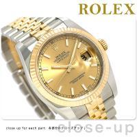 ロレックス デイトジャスト 36mm ロレゾール スイス製 自動巻き メンズ 腕時計 RX11623...