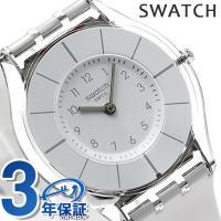 スウォッチ スキン スイス製 腕時計 ホワイト ラバーベルト Swatch SFK360 個性と実用...