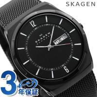 3年保証キャンペーン  スカーゲン 腕時計 チタニウム メンズ デイデイト オールブラック SKAG...