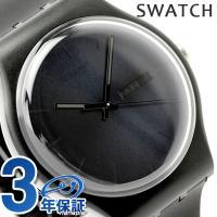 スウォッチ スイス製 腕時計 ニュージェント ブラック・レーベル SUOB702 SWATCH スウ...