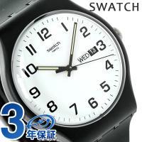スウォッチ オリジナル ニュージェント トゥワイス アゲイン ユニセックス 腕時計 SUOB705 ...