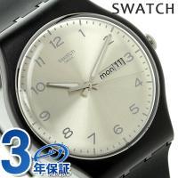 スウォッチ オリジナル ニュージェント シルバー・フレンド スイス製 クオーツ ユニセックス 腕時計...