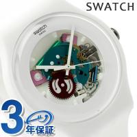 スウォッチ スイス製 腕時計 ニュージェント ホワイト ラッカード SUOW100 SWATCH ス...