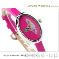 ヴィヴィアン・ウエストウッド 腕時計 レディース メダル ピンク エナメルレザー Vivienne ...