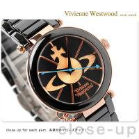ヴィヴィアン・ウエストウッド 腕時計 レディース ブラック×ピンクゴールド セラミックベルト Viv...