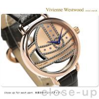 ヴィヴィアン・ウエストウッド 腕時計 レディース ローズゴールド×ダークグレー レザーベルト Viv...