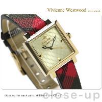 ヴィヴィアン・ウエストウッド 腕時計 レディース ゴールド×チェック柄 レザーベルト Vivienn...