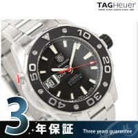 タグホイヤー メンズ 腕時計 アクアレーサー 500 M キャリバー5 自動巻き 43 MM ブラッ...