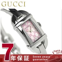 7年保証 ローン24回払まで無金利キャンペーン グッチ 時計 レディース 6800 ピンクシェル G...