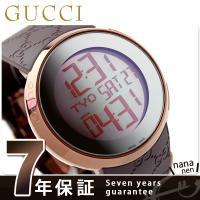 7年保証キャンペーン グッチ 時計 メンズ アイグッチ 114 デジタル ミラー×ブラウンラバー G...