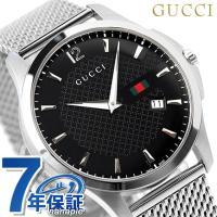 7年保証 ローン24回払まで無金利キャンペーン グッチ 時計 メンズ Gタイムレス スリム デイト ...