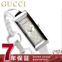 7年保証キャンペーン グッチ 時計 レディース Gフレーム シルバー GUCCI YA127511 ...