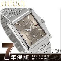 7年保証キャンペーン グッチ Gタイムレス レクタングル クオーツ メンズ 腕時計 YA138402...