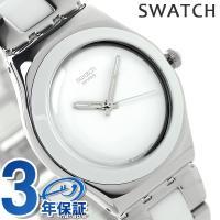 3年保証キャンペーン スウォッチ アイロニー ミディアム トレゾワ ブラン ユニセックス 腕時計 Y...