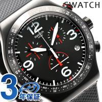 スウォッチ アイロニー クロノ ブラック・イズ・バック 43mm スイス製 クオーツ メンズ 腕時計...