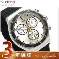 スウォッチ アイロニー クロノ ジャンプ・ハイ 43mm スイス製 クオーツ メンズ 腕時計 YVS...