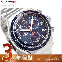 スウォッチ アイロニー クロノ スウォッチアワー 43mm スイス製 クオーツ メンズ 腕時計 YV...