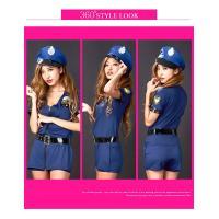 ハロウィン コスプレ ポリス ブルー 婦人警官 衣装 仮装 パーティー セクシー コスチューム