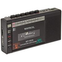 (中古品) WINTECH マイクロSD/USB録音対応コンパクトラジカセ ブラック  (FMワイド...