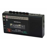 (新品・未使用品) WINTECH マイクロSD/USB録音対応コンパクトラジカセ ブラック  (F...