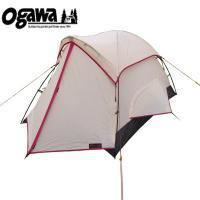 テント ogawa ピコラ 2人用 ツーリング向けテント 1〜2人用 クリーム×レッド