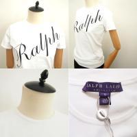 ラルフローレン パープルレーベル レディース ロゴ クルーネック Tシャツ/ホワイトRalph Lauren Collection Logo T-shirt