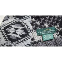 【SALE】【LAUREN JEANS by Ralph Lauren】 ローレンジーンズ  ネイティブ デザイン ニット マフラー/GREYセーター