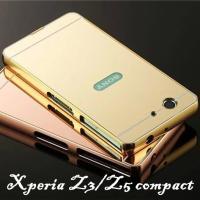 金属フレーム PMMA エクスペリア z5 Compactケース 鏡面 対応機種:Xperia Z3...