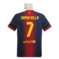 12-13年バルセロナホームの ダビド・ビジャ半袖シャツです