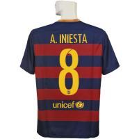 15-16年バルセロナ/チャンピオンズリーグ/ホーム 半袖/イニエスタです。