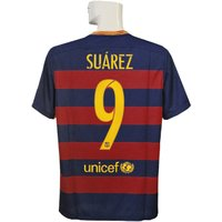 15-16年バルセロナ/チャンピオンズリーグ/ホーム 半袖/スアレスです。