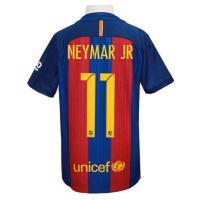 16-17年バルセロナ/ホームジュニア用 ネイマール半袖シャツです。