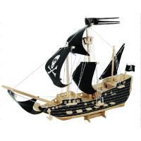 大人気の海賊船のウッドクラフトです。 全てくり抜かれているため、工具は必要ありません。 嵌め込むだけ...