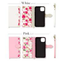 iphone se2 se ケース 第2世代 手帳型 iphone11 ケース手帳型 iphone8 iPhone7 ケース おしゃれ 花柄 fleur|ndos|02