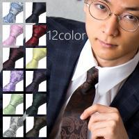 12カラーペイズリー柄ネクタイ♪ 大検幅が8.5cmのスタンダードサイズです。 ビジネスはもちろん結...