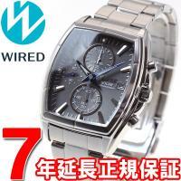 ワイアード WIRED ソーラー 腕時計 メンズ クロノグラフ グレー&ブルー AGAD085 セイ...