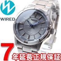 ワイアード WIRED ソーラー 腕時計 メンズ グレー&ブルー AGAD086 セイコー SEIK...