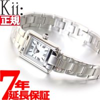シチズン キー Kii: エコドライブ ソーラー 腕時計 レディース スクエア メタルバンド EG2...