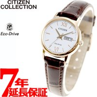 シチズン コレクション エコドライブ ソーラー 腕時計 レディース ペアウォッチ デイデイト EW3...