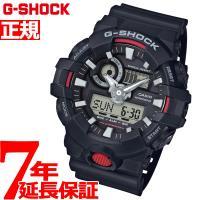 Gショック G-SHOCK 腕時計 メンズ 黒 ブラック×レッド アナデジ GA-700-1AJF ...