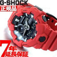 Gショック G-SHOCK 腕時計 メンズ 赤 レッド アナデジ GA-700-4AJF カシオ C...