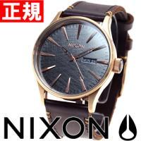 ニクソン NIXON セントリーレザー SENTRY LEATHER 腕時計 メンズ ローズゴールド...