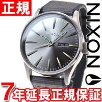 ニクソン NIXON セントリーレザー SENTRY LEATHER 腕時計 メンズ ガンメタル/グ...