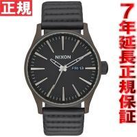 ニクソン NIXON セントリーレザー SENTRY LEATHER 腕時計 メンズ ブロンズ/ブラ...