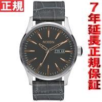 ニクソン NIXON セントリーレザー SENTRY LEATHER 腕時計 メンズ グレイゲーター...