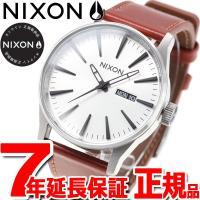 ニクソン NIXON セントリー レザー SENTRY LEATHER 腕時計 メンズ ホワイトサン...