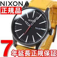 ニクソン NIXON セントリーレザー SENTRY LEATHER 腕時計 メンズ オールブラック...